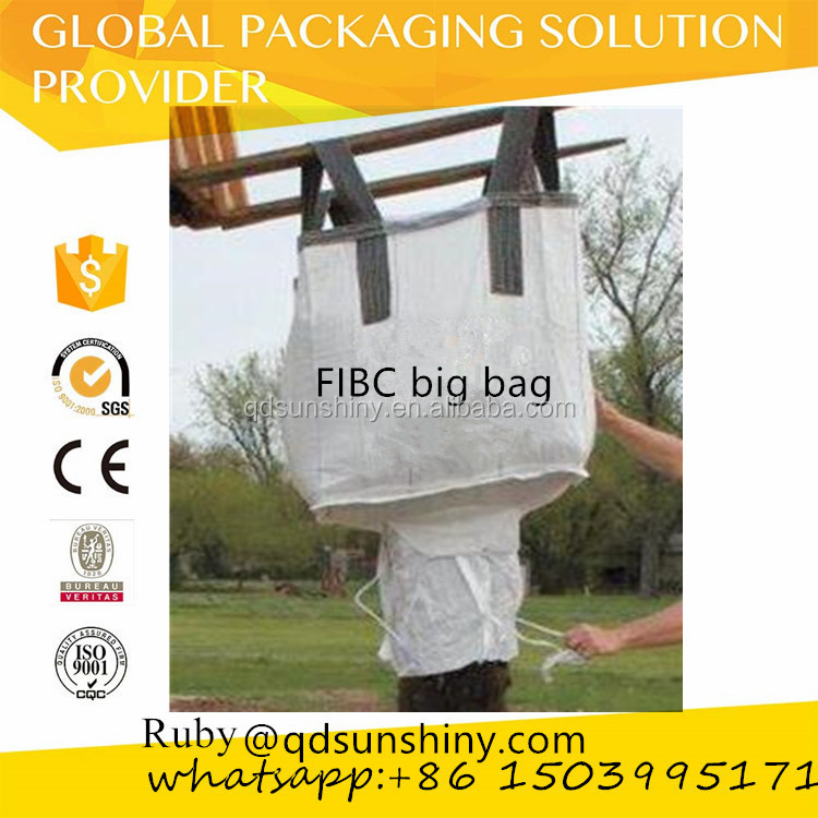 Virgin PP Woven jumbo big bag / ton bag / fibc / super sacks for 1000kg