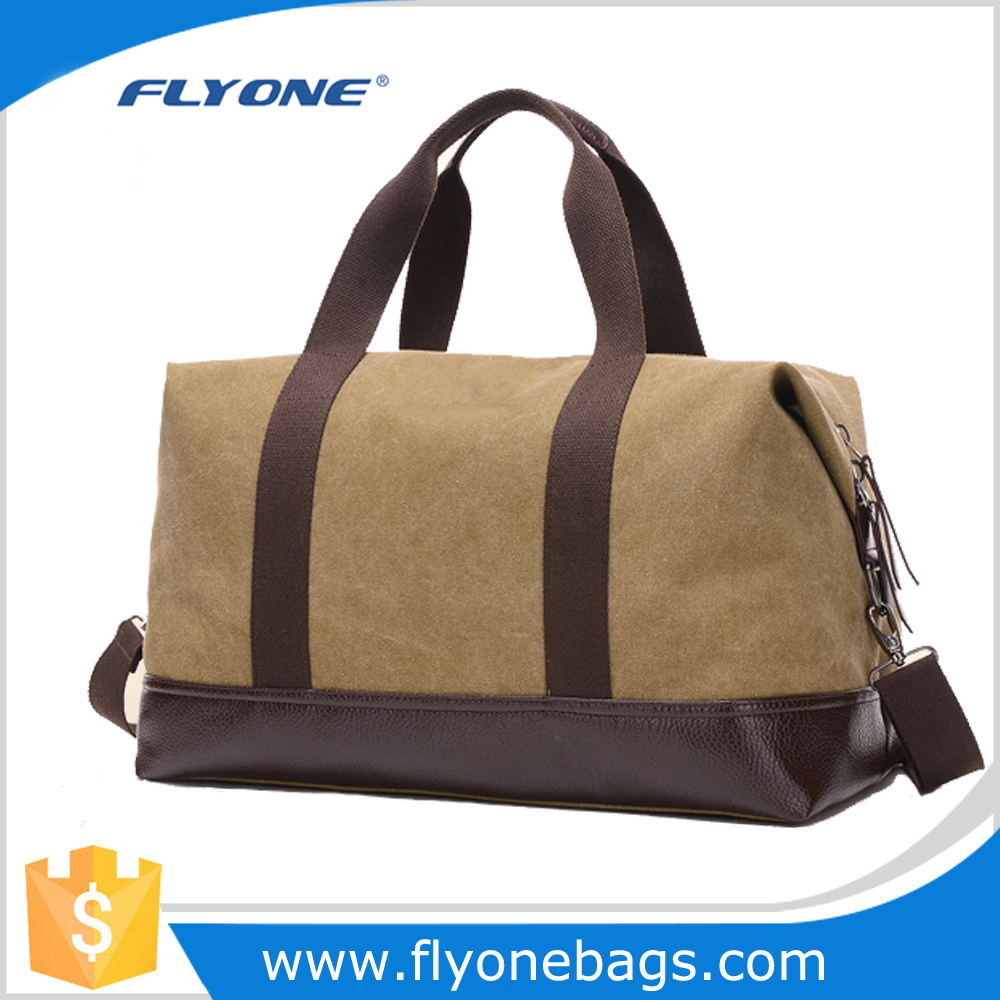Fashion durable soft Classic luggage canvas travel bags