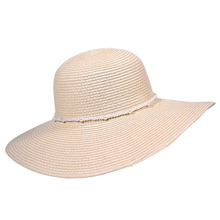Wholesale custom lady raffia paper boater floppy straw hat panama summer beach sun hats for women