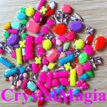 fluorescence neon color stones sew on claw setting stones