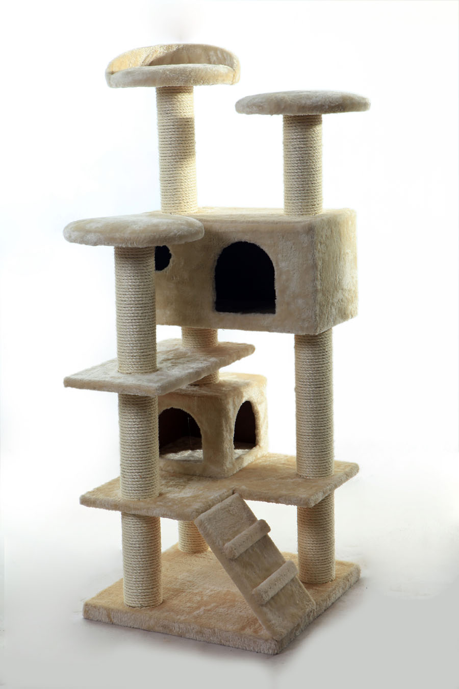 2015 good sale cat luxury condo/cat scratcher post/semi-enclosed plush seat