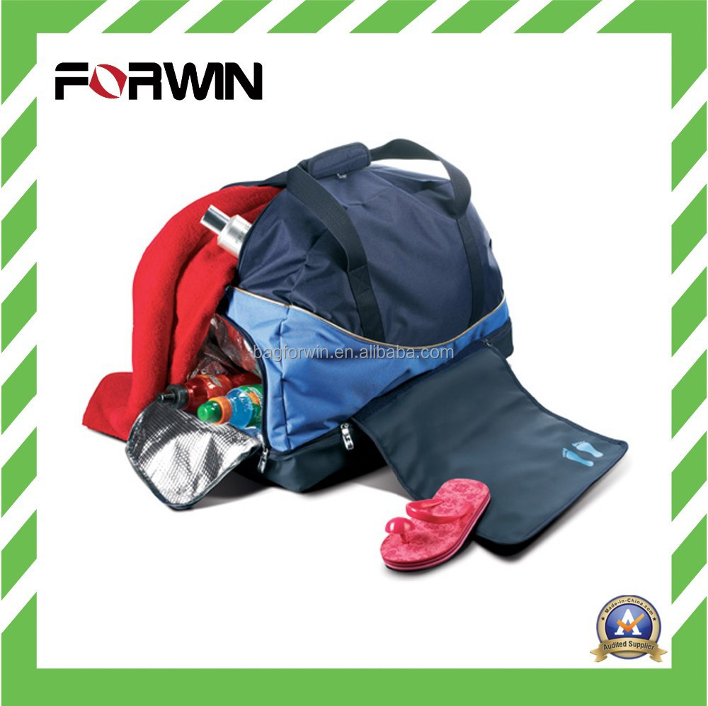 600D Polyester Cooler Sport Duffel Bag with PEVA lining Inside