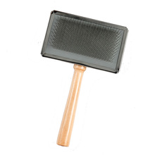 Professional natural long handle cleaning brush self cleaning dog slicker brush