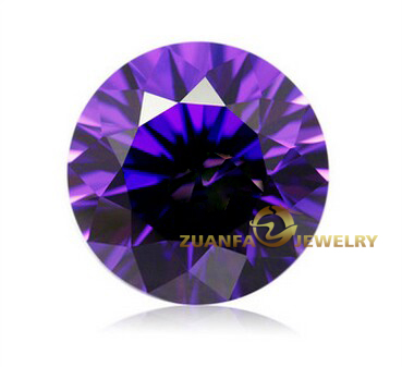 Wholesale Excellent Cutting Round Amethyst Loose Synthetic