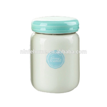 2016 decorative handmade soy wax ceramic scented candle with lid