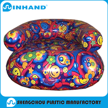 big pvc inflatable chesterfield sofa , promotional plastic arm chair