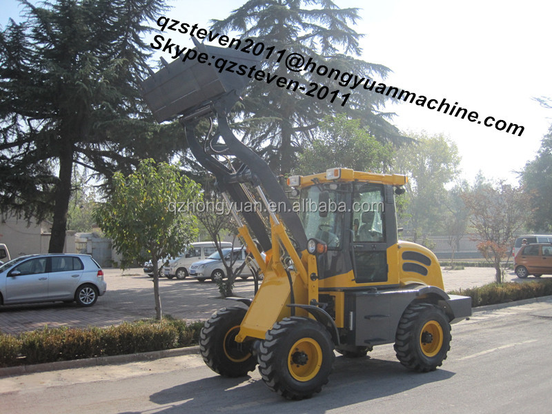 ZL15F Mini Wheel Loader with 1500kg loading weight, CE approved