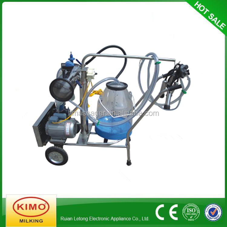 KIMO Hot Sale With Transparent Milk Bucket Vacuum Pump Portable One Cow Milker Machine