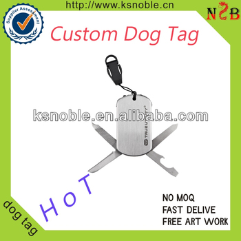 2015 inspirational dog tag promotional cheap custom metal