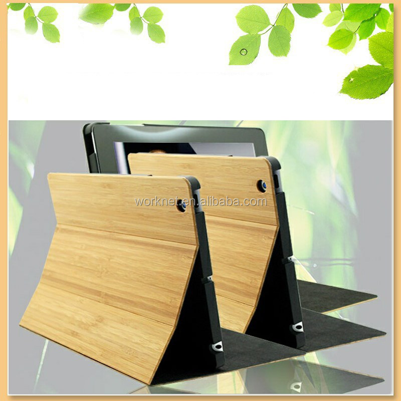 perfect for gift 100% natural bamboo wooden case for ipad mini 2/3