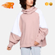 Wholesale Oversized Pullover Gym Colorblock Women Hoodie
