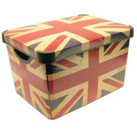 Wholesales UK national flag Fabric decorative cardboard drawer storage box