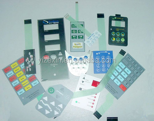 Custom new membrane switch keypad, pcb membrane switch high resistance keyboard touch switch