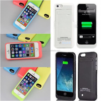 2000mah External Backup Battery Power Bank Charger Case Cover for iPhone 5 5s 5c Battery Case
