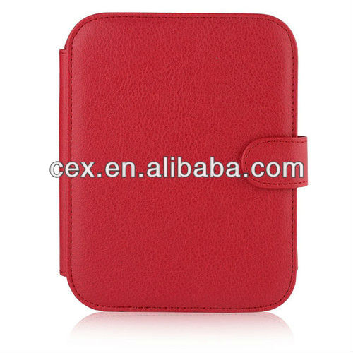 New Arrival Multi Color Ultra Compact PU Leather Case For NOOK Simple Touch and GlowLight