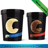 luxury black glossy lamination Custom printed disposable paper ice cream cup
