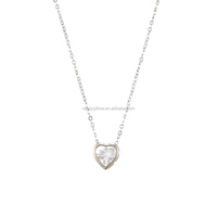 Delicate Heart Shaped Pendant 1.00 Wholesale CZ Necklace Jewelry