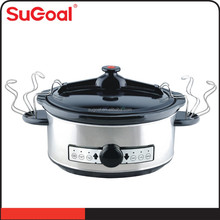 New Products for Home Appliances Stainless Steel Crock Pot Digital Slow Cooker
