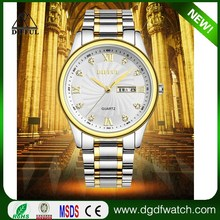 Japan Movt Quartz Stainless Steel Back Classic Stylish Two Tone watch
