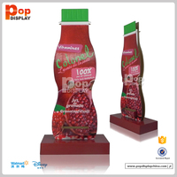 custom point of sale cardboard display unit for beverage advertising