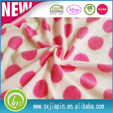 wholesale printed polar fleece 100%polyester fabric for blankets , pajams