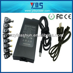 china manufacturer yds 90w universal external laptop battery charger/ universal to japan plug adapter/ ac dc laptop adpter