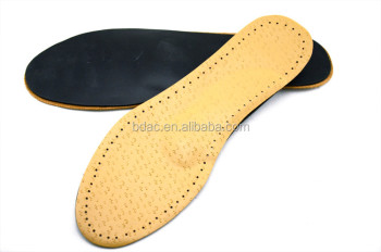 leather and latex breathable leather insoles for shoes