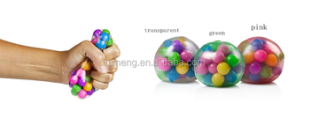Soft TPR material Colorful Beads DNA Stress Balls Squishy Balls
