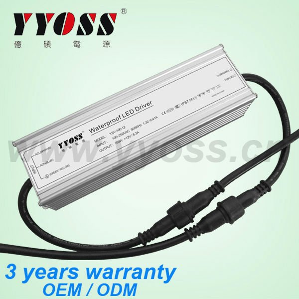 Hot selling!! High efficiency 100w 12v dve switching adapter