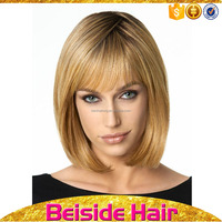 cheap short layered blond party bob cut style wigs