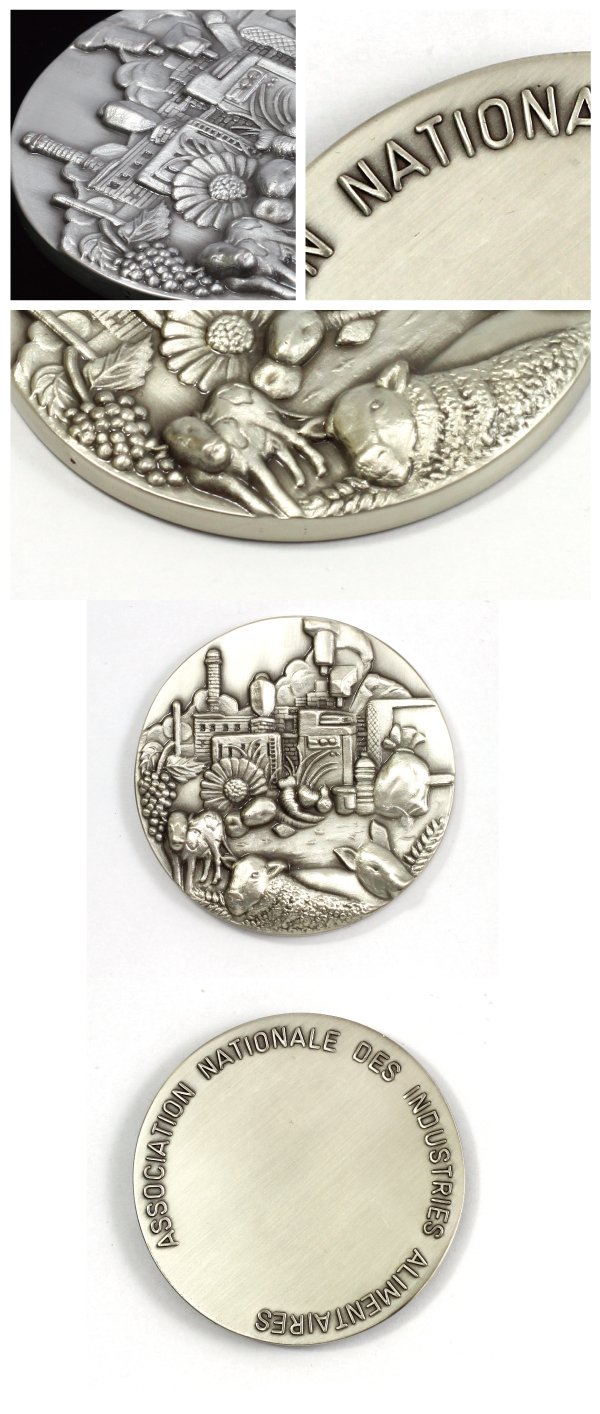 Custom Antique Silver 3D Embossed Challenge Coin