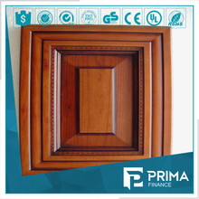 solid color kitchen cabinet aluminum frame glass door with high quality