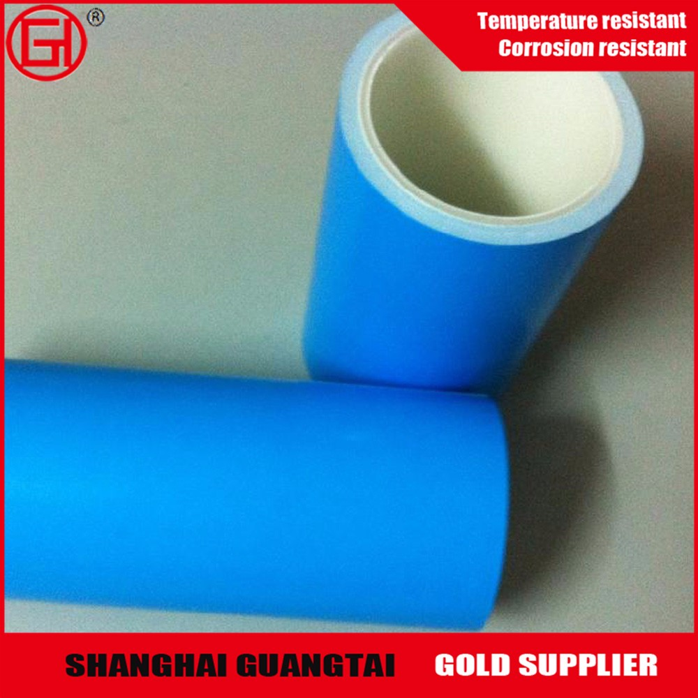 75 micron high gloss pet silicone coated blue film roll