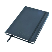 pu leather cover with buckle portable black business and school notebook accept custom logo