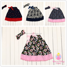 2016 New Arrival Fashion Sleeveless Flower Print Baby Dress Beautiful Swing Dress For Baby Girl