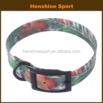 wholesale reflective polyurethane camouflage dog collar