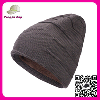 Factory wholesale Canada Ski Winter thick Plain Knitted Hat design your own blank beanie hat