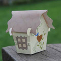 Bird House candy gift box personalize paper bird house favour box, paper box, wedding favor