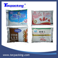Double chamber aseptic liquid milk pouch filling and packing machine