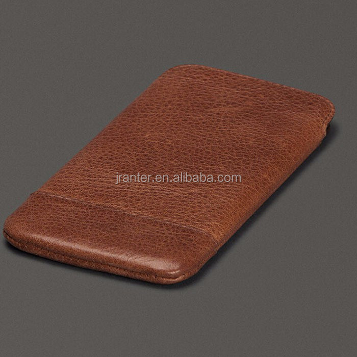 Customized Logo 2016 New Design Mobile Phone Pouch Real Leather for Iphone Case 6s