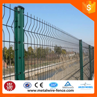 PVC Coated 2x2 galvanized welded wire mesh for fen /3 bends wire mesh fence/triangle femce/ with