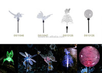 Outdoor Garden Solar Pathway Stake LED butterfly Solar Color Changing Light