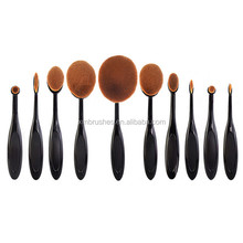 XMY Alibaba Top Sales Nylon Powder Oval Makeup Brushes