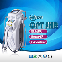 Factory Supply OPT SHR IPL RF Nd:YAG Laser 4 in 1 beauty salon equipment for sale