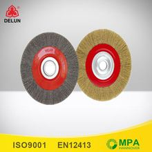 flat wire wheel brass wire wheel to removal all kinds of corrosion