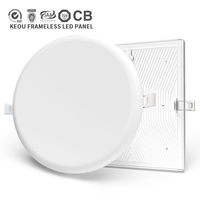New TUV CB CE 18watt recessed frameless lamp 18w round ceiling led panel light for indoor lighting