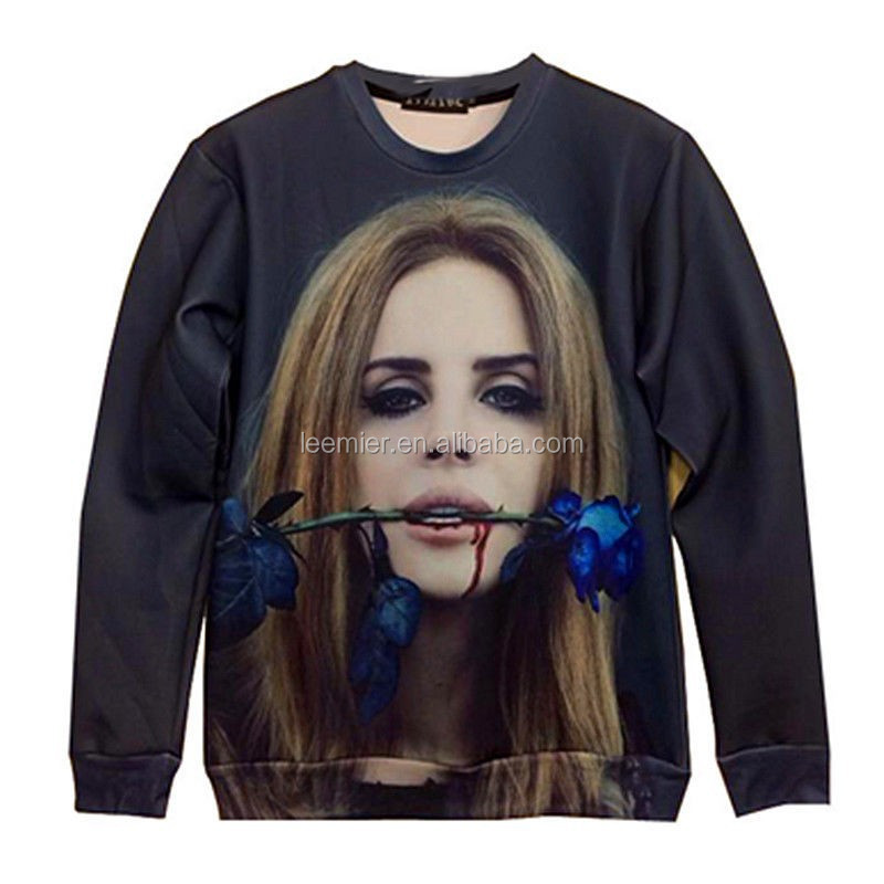 hot selling full printing women shirt collar knitted sweater