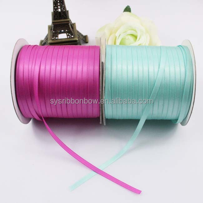 wholesale polyester 1/8 Inch Double Face Satin Ribbon