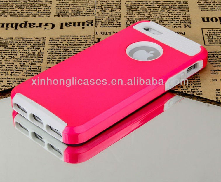 New arrive Pink Rugged Rubber Matte Hard Case Cover For iPhone 5 5""
