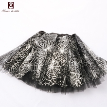 Halloween children sequin dance costumes rainbow tutu skirt tulle with stars